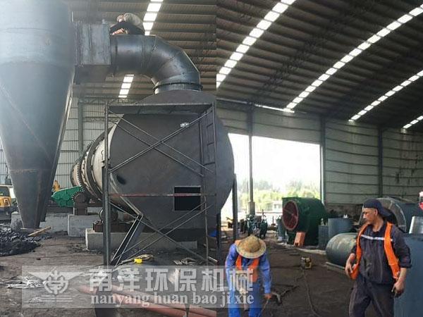 煤泥烘干机安装现场